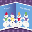 Christmas card with snowmen — Stock Vector