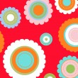 Colorful flower pattern — Stock vektor