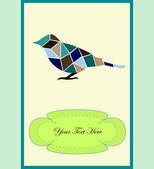 Güzel kuş — Stok Vektör