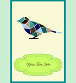 Pěkný pták — Stock vektor