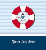 Young sailor card — Vector de stock