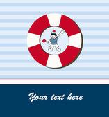 若い水夫カード — ストックベクタ