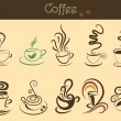 Coffee cup set — Vettoriali Stock