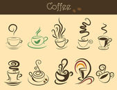Coffee cup set — Stockvektor