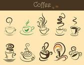 Zestaw filiżanka kawy — Wektor stockowy