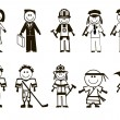 Cartoon professions icons — Stockvector #14072305