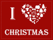 クリスマスを愛する — ストックベクタ