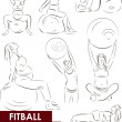 Fitball for pregnant - Stock Vector