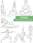 Yoga per la gravidanza — Vettoriale Stock