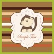 Vector de stock : Bright card with monkey