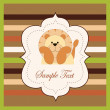 Vector de stock : Bright card with lion