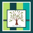 Card with a tree — Imagen vectorial