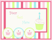 Card with capcakes — Stock Vector
