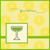 Card with lemon slices pattern — ストックベクタ