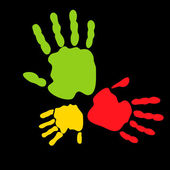 Colorful hand prints — Vetorial Stock