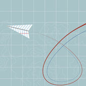 Fliegende papierflieger — Stockvektor