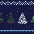 Collection of Christmas trees 05 — Vector de stock #14916353