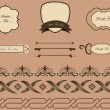 Decoration elements — Imagen vectorial