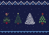 Collection of Christmas trees 05 — Vector de stock