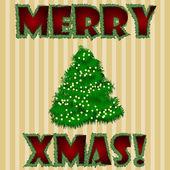 Merry xmas kartı — Stok Vektör