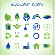 Stockvektor : Ecology icons