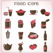 Food icons set - Stockvectorbeeld