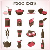 Food icons set — Vetorial Stock