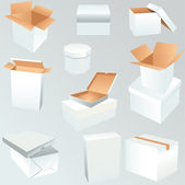 Package boxes set — Stock vektor