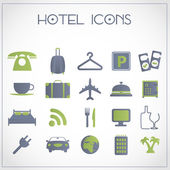 Iconos de hotel — Vector de stock