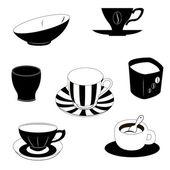 Set of cups — Cтоковый вектор