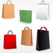 Shopping bags set — Stockvektor