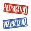 Royalty-Free Stock Vector Image: Air mail grungy stamp