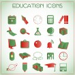 Education icons — Stock Vector #16258961