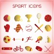 Sport icons — Stock vektor