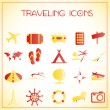 Traveling icons — Vettoriale Stock #16258997