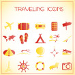 Traveling icons — Vecteur #16258997