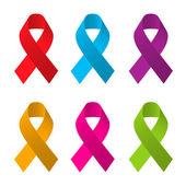 Awareness ribbons — Stock Vector