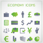 Economie pictogrammen — Stockvector