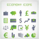 Icone di economia — Vettoriale Stock
