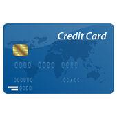 Carte de crédit de vecteur — Vecteur
