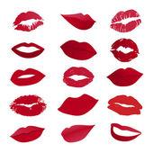 Vektor gruppe von lippen — Stockvektor