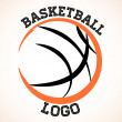 Stock Vector: Basketball logo