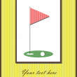 Golf card — Stock Vector
