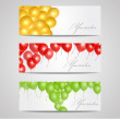 Vector banners with balloons — Stock Vector