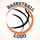 バスケット ボールのロゴ — ストックベクタ