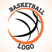 Basketball logo — Vettoriale Stock