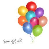 Festive balloons — Stock Vector