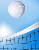 Flying volleyball — Vector de stock
