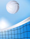 Vliegende volleybal — Stockvector