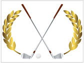 Palos de golf — Vector de stock